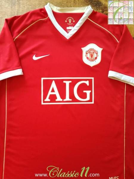 c8ae777c44c 2006 07 Man Utd Home Premier League Football Shirt Ferdinand  5 (XXL ...