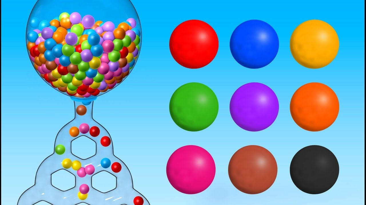 Learn Colors with Giant Gumball Machine - Colours Songs Collection ...