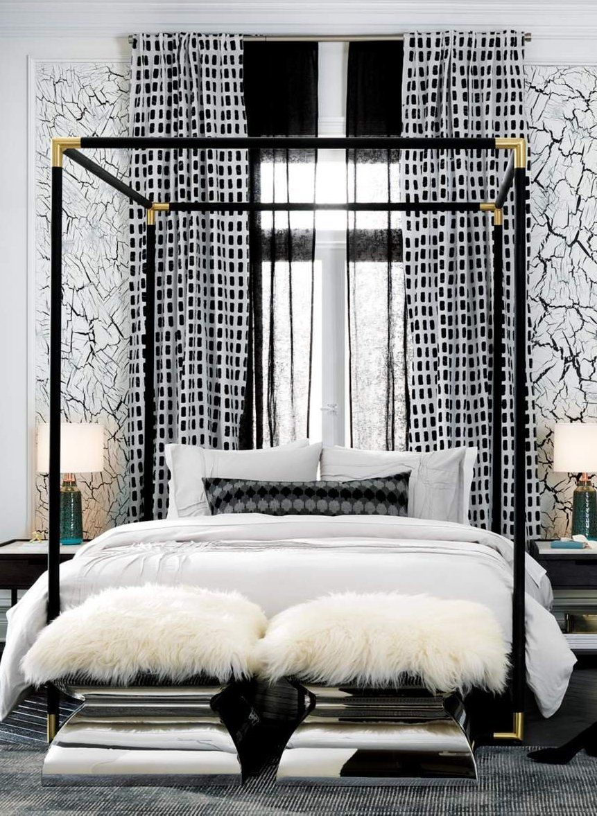 - Frame Black Metal Canopy Bed Metal Canopy Bed, Luxurious