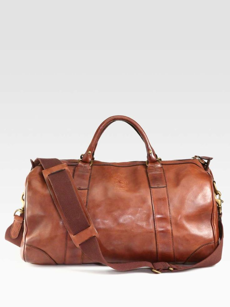 4ea42708f5 Ralph Lauren Leather Gym Bag