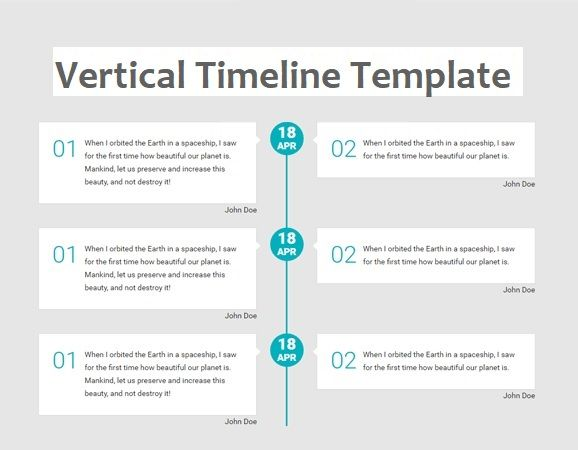 Vertical Timeline Template   Free Printable Pdf Excel  Word