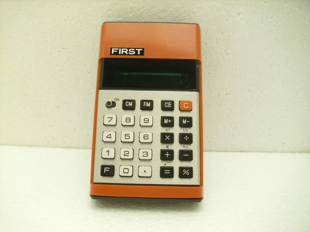 Rare Vintage First Electronic Calculator Made In Japan Casio