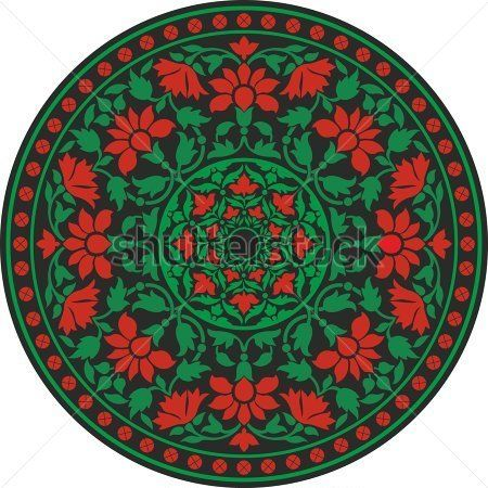 Indian Traditional Pattern In Color