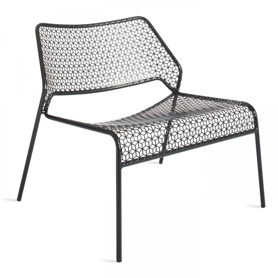 Hot mesh black metal lounge chair corner