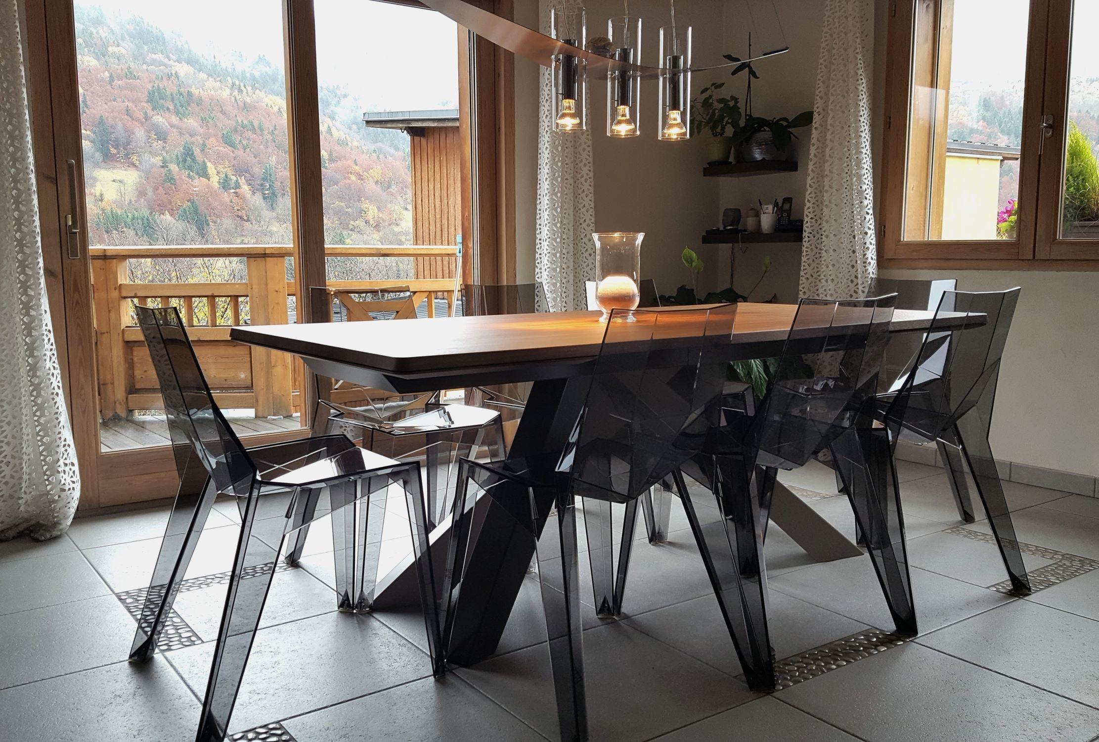 Tavolo alto ~ Tavolo con gambe colorate big table di bonaldo arredaclick