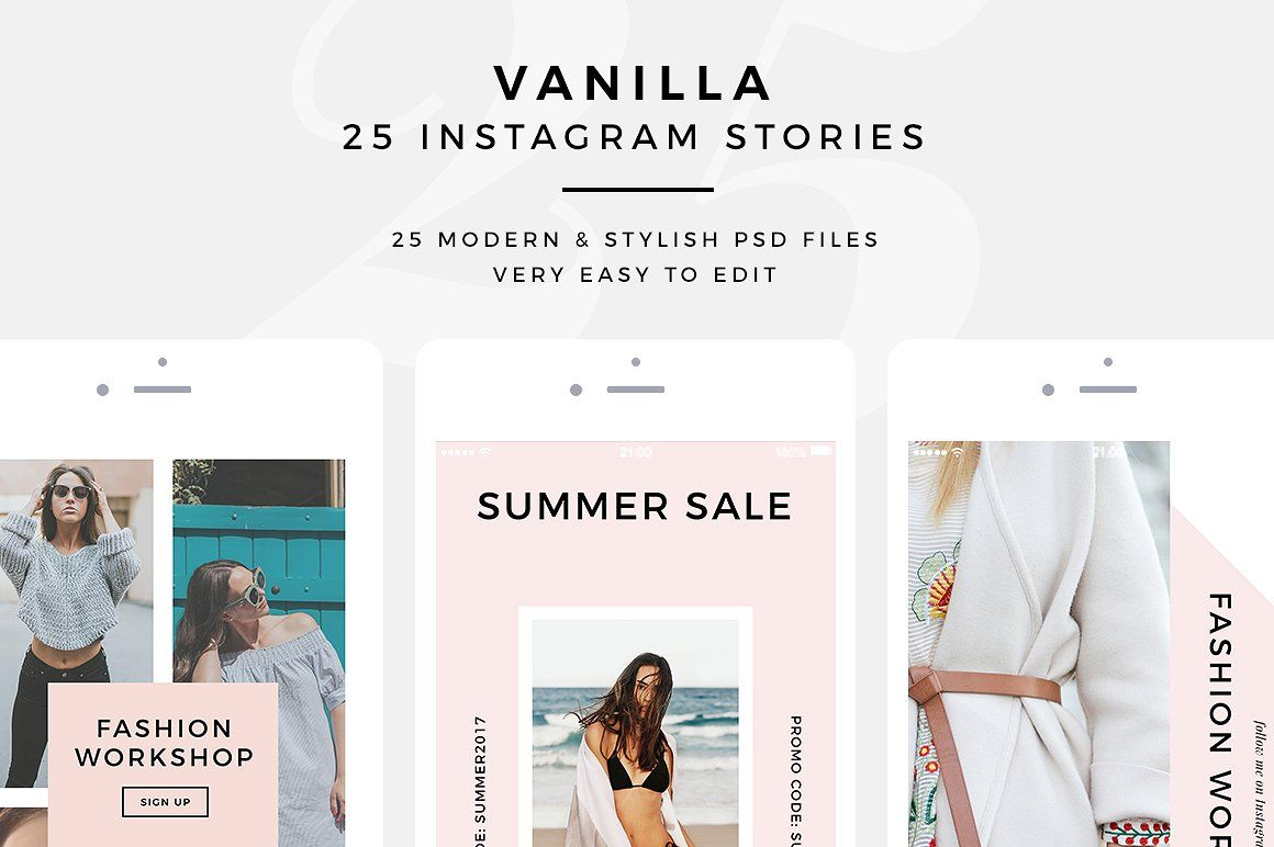 Vanilla 25 Psd Instagram Stories Instagram Story Instagram Story Template Promotional Products Marketing