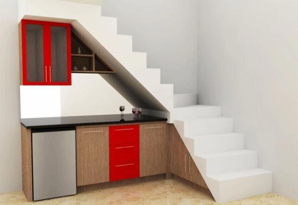 Info desain dapur kecil bawah tangga desain rumah for Kitchen set bawah