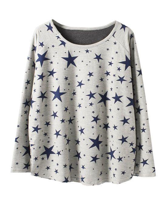 Star Printed Cotton T-shirt