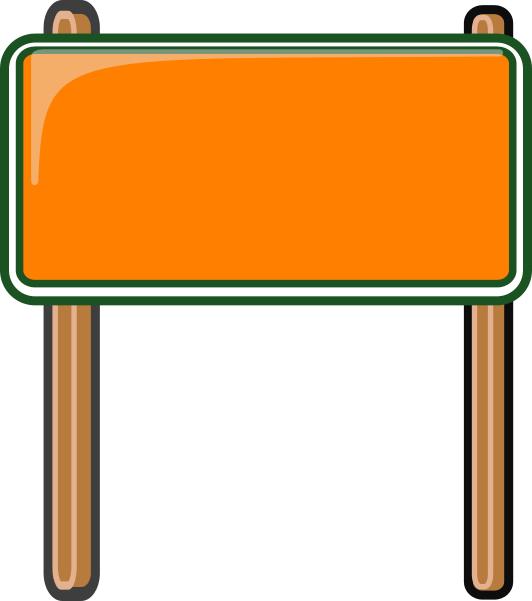 Highway Sign Orange Signs Highway Signs Sticker Sign