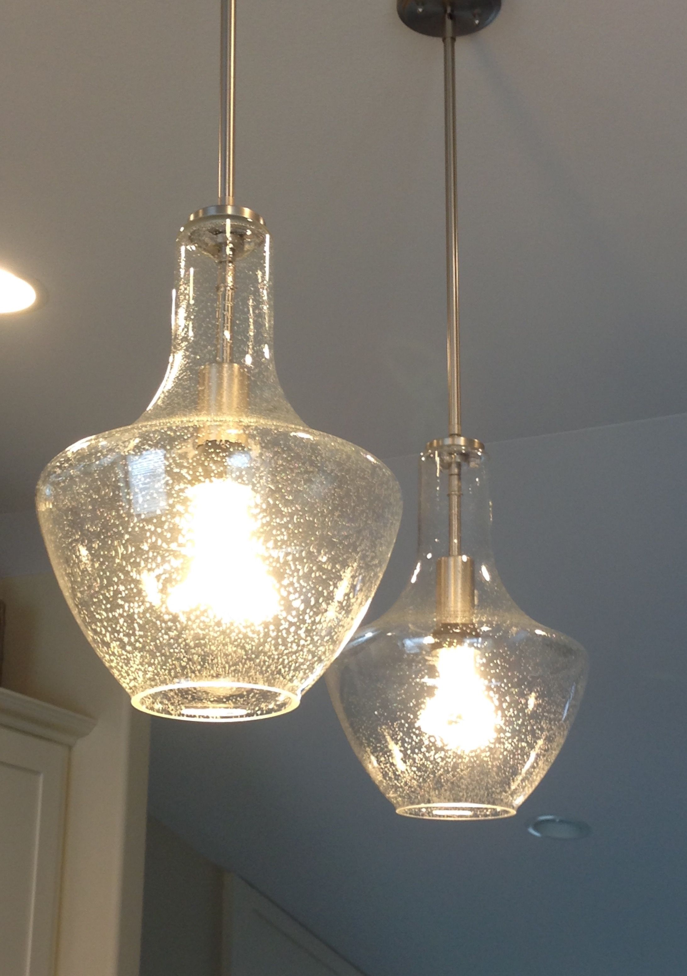 Lovely Kichler Seeded Glass Pendant Lights