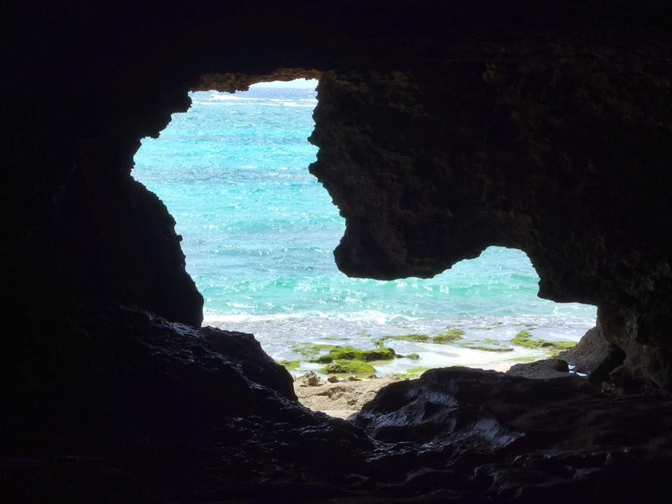 Heart of the cave in OKINAWA.