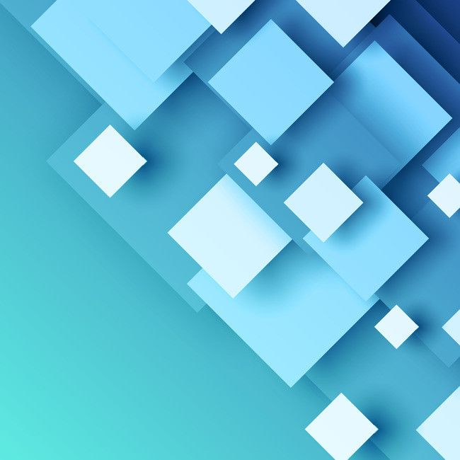 Business Blue Minimalist Cube Background Material Cube Design