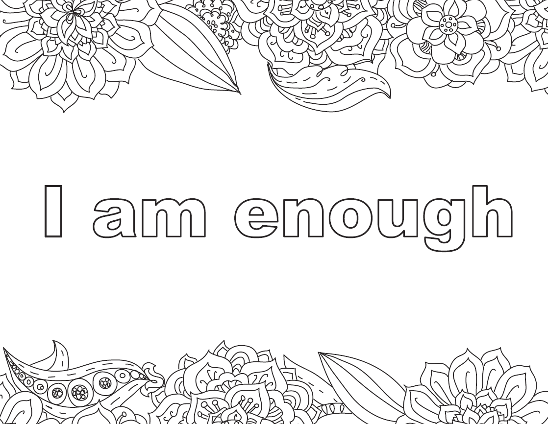 I Am Strong Page Coloring Pages