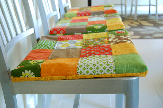 Non Slip Patchwork Seat Cushions Tutorial