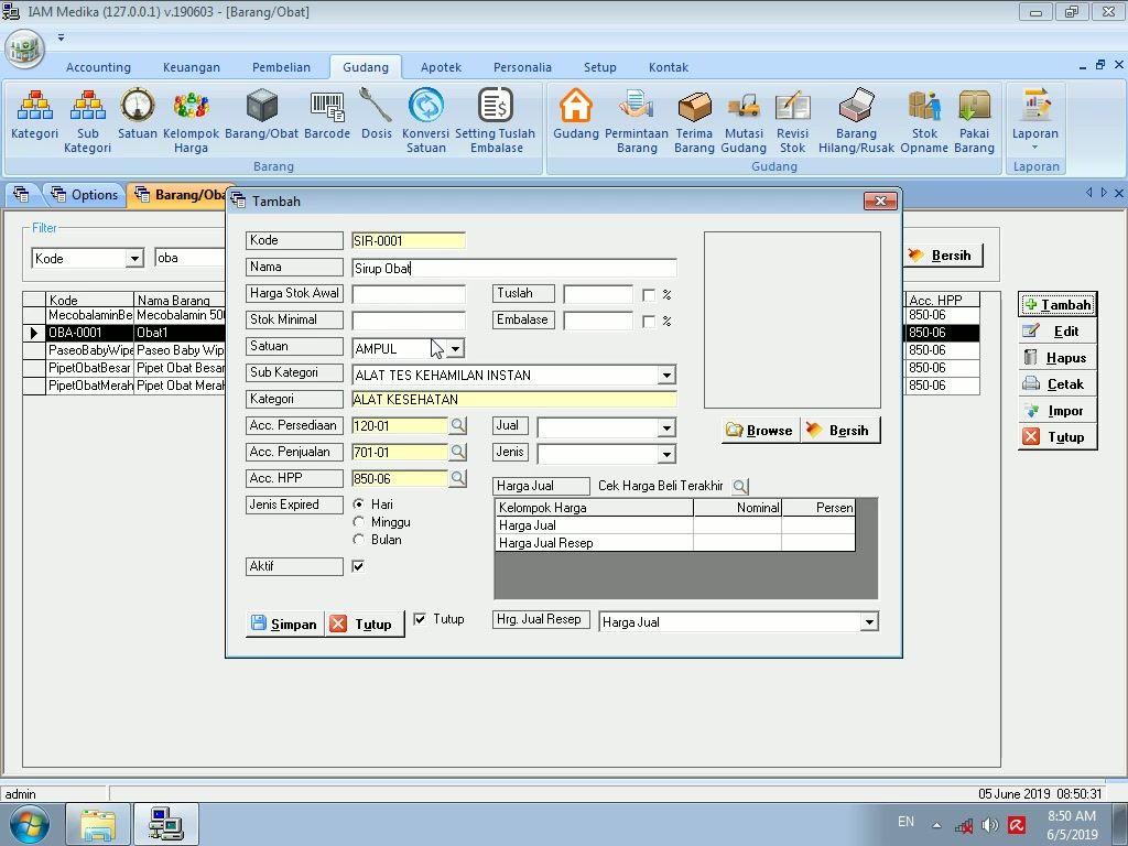 Tutorial Cara Pengaturan Kode Obat Otomatis Dari Nama Obat Pada Software Apotek Gratis Software Tutorial Desktop Screenshot