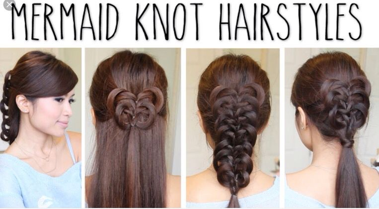 Hairstyle With Knots Hair Styles Hair Knot Hair Tutorial