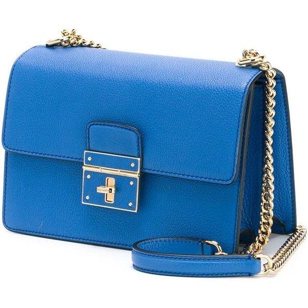 6233cb767c9 Dolce   Gabbana  Rosalia  shoulder bag ( 1,675) ❤ liked on Polyvore  featuring bags, handbags, shoulder bags, chain strap purse, chain strap  handbag, blue ...