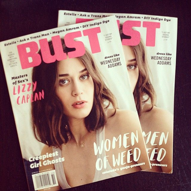 Sneak Peek of our latest and greatest!! #LizzyCaplan and so much more! On newsstands next Tuesday ⭐️#subscribetoBust #print #magazines