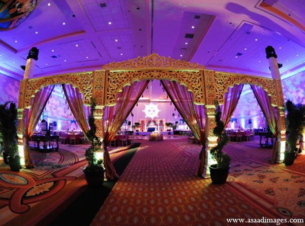 Indian Wedding Venue Reception Lighting Decor Maharaniweddings Gallery