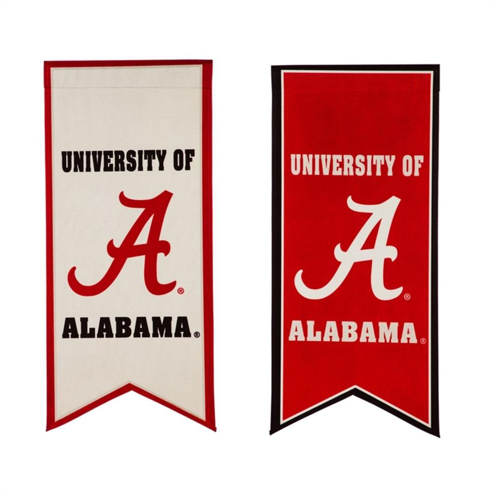 Evergreen 12 5 In X 28 In University Of Alabama Garden Banner Flag In 2020 Flag Banners Flag Accessories Flag