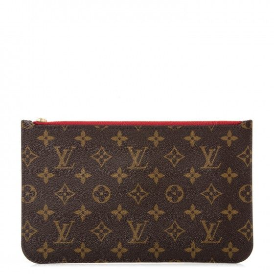 66de0357d1d7 This is an authentic LOUIS VUITTON Monogram Neverfull MM GM Pochette in  Cerise Cherry. For those everyday essentials