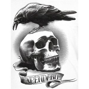 the expendables raven and skull lineart movie 39 s pinterest ravens tattoo and tatting. Black Bedroom Furniture Sets. Home Design Ideas
