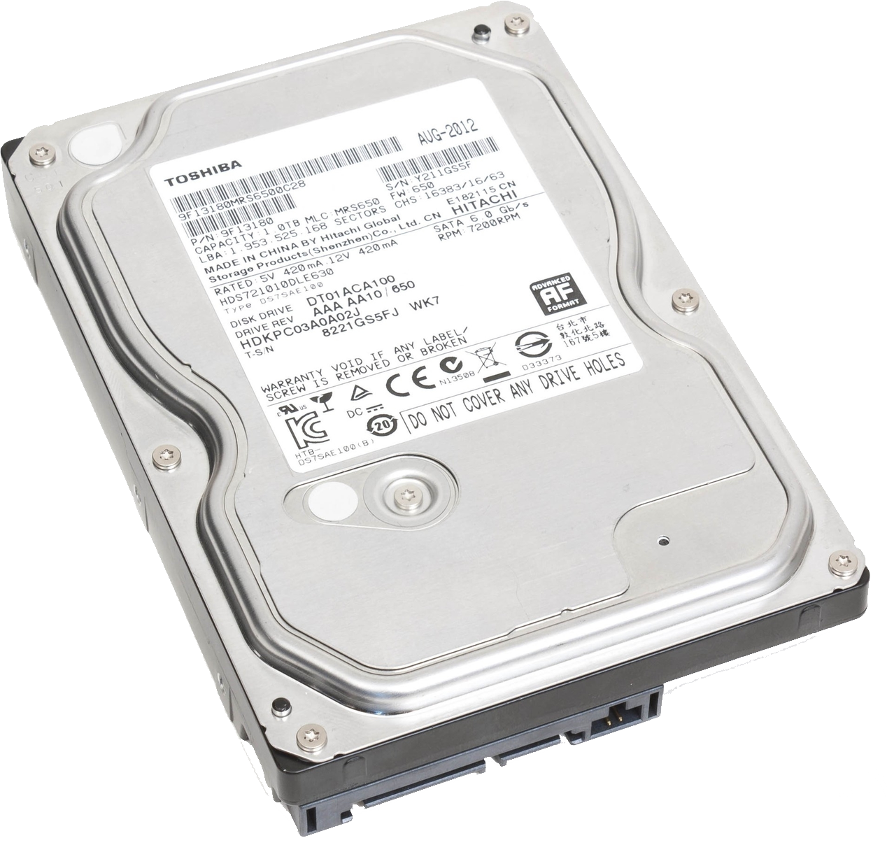 Hard Disc Transparent Image Hard Disk Toshiba Hard Disk Drive