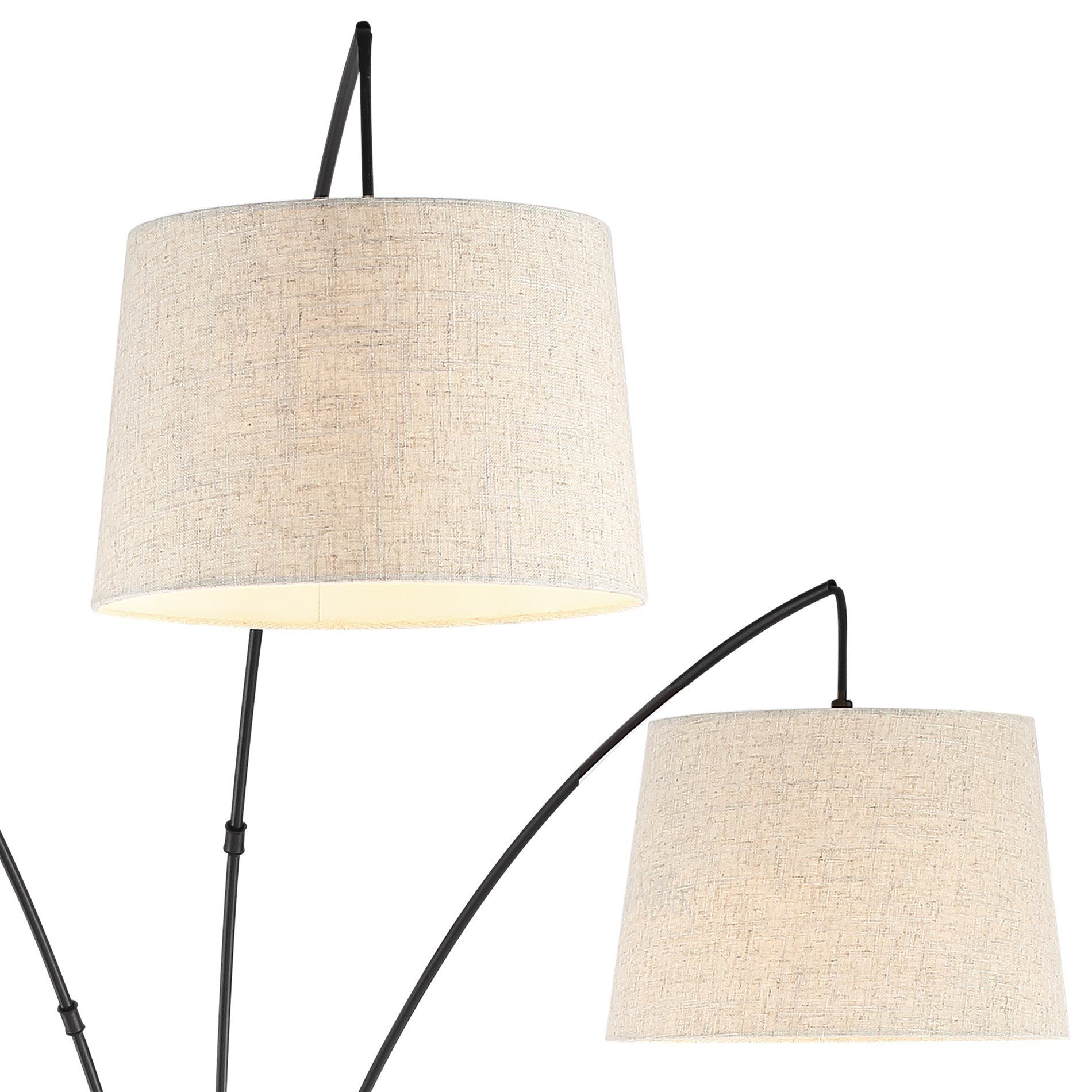 Kira Home Akira 78.5 Modern 3Light Arc Floor Lamp with