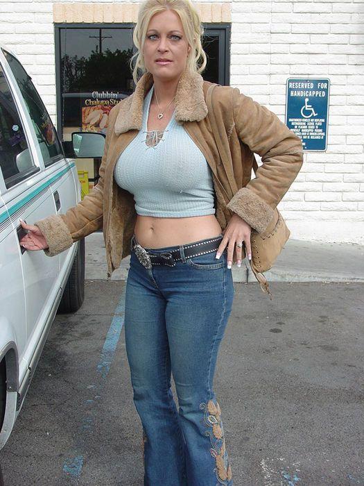 Hot milf in jeans