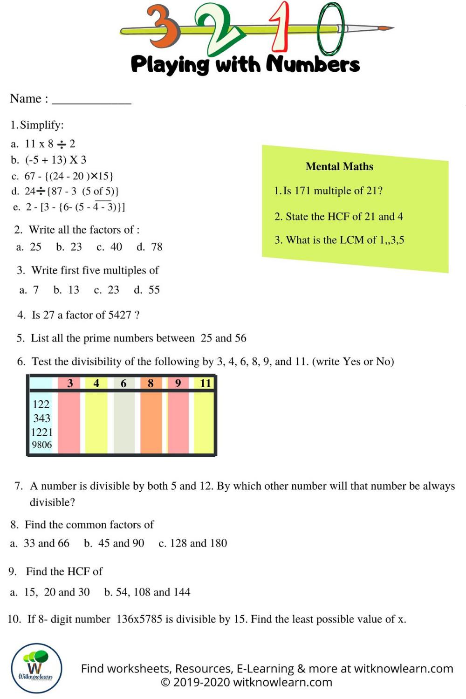 Playing With Numbers Worksheet Printable Worksheets Playing With Numbers Worksheets [ 1500 x 1000 Pixel ]