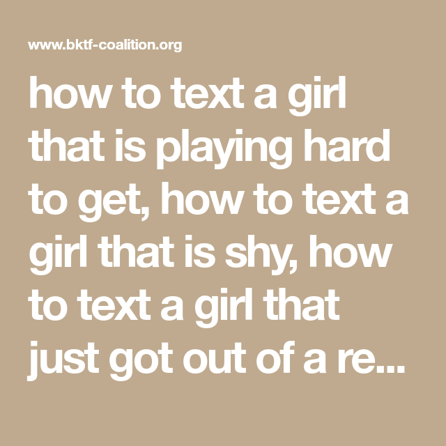 signs a girl is playing hard to get