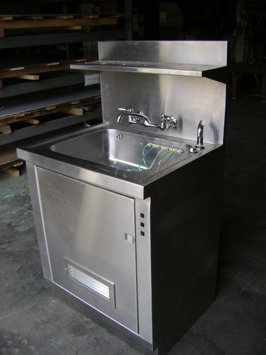 Stainless Steel Cabinet with built in sink