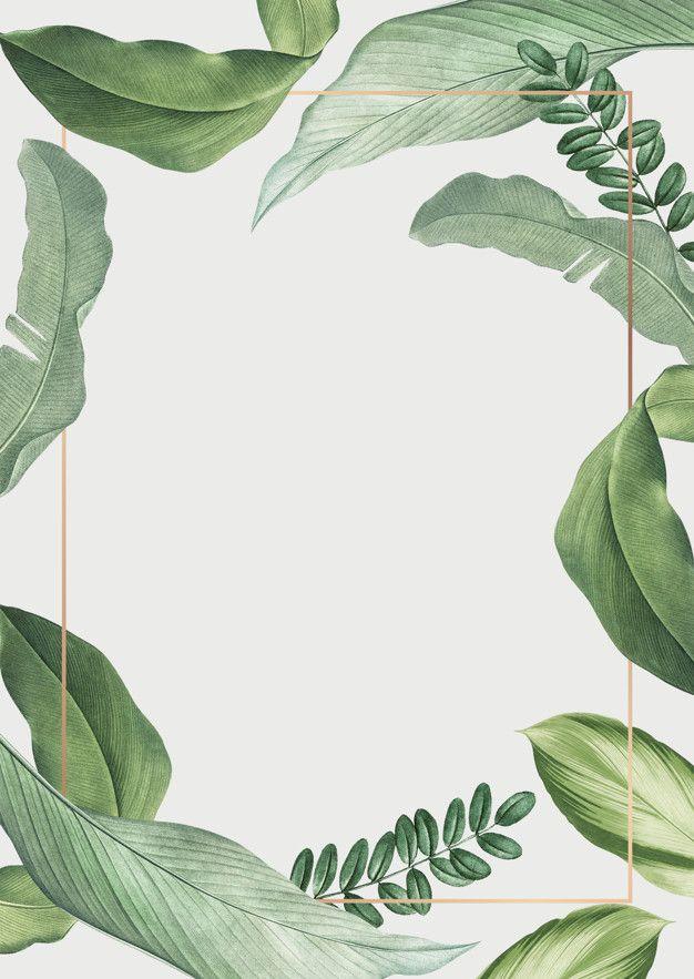 Tropical leaves frame | Free Psd #Freepik #freepsd #background