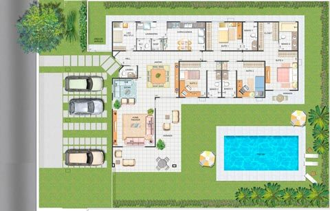 7 modelos de casas de campo plantas - Modelos de casas de campo ...