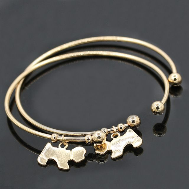 High Quality Fashion Jewelry Bracelet Gold And Silver New Puppy Dog Bracelet Bangle