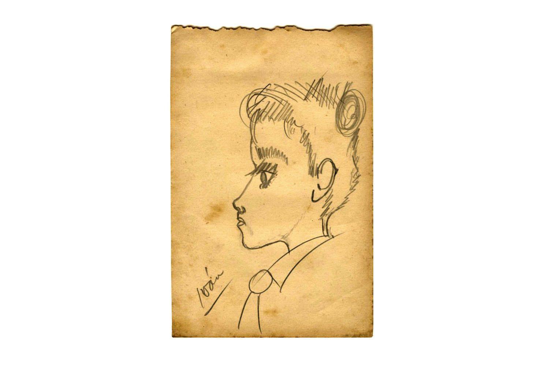 Old Illustration, Kids Caricature Drawing, Vintage 1950s Pencil ...