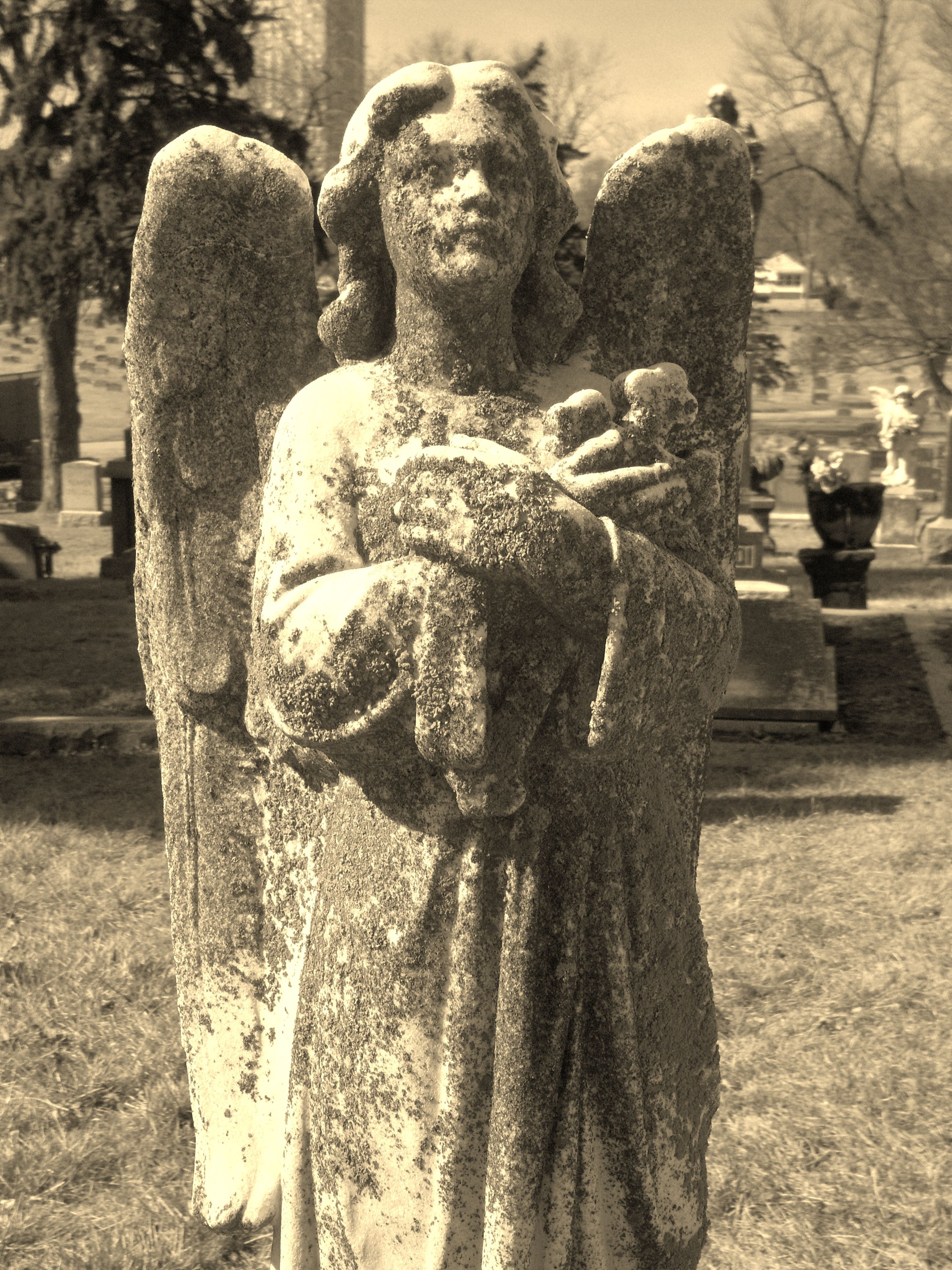 Cemetery angel - Celestial Reflections Photography