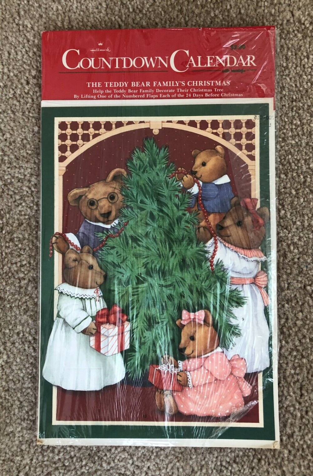Hallmark Advent Calendar Teddy Bear Family S Christmas Vintage New Old Stock Ebay Family Christmas Vintage Christmas Christmas Spirit