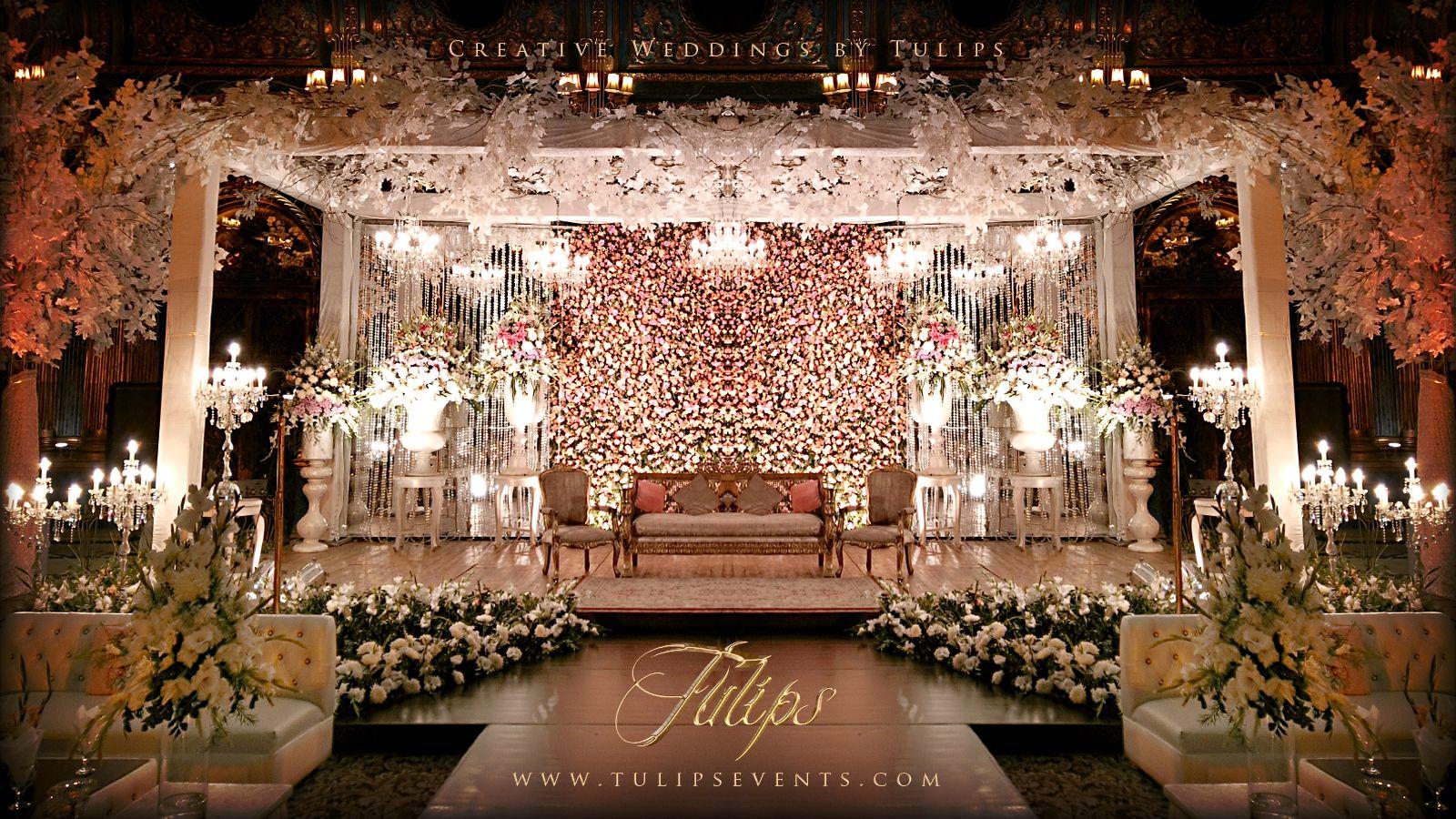 Tulips event - Best Pakistani wedding stage decoration ...