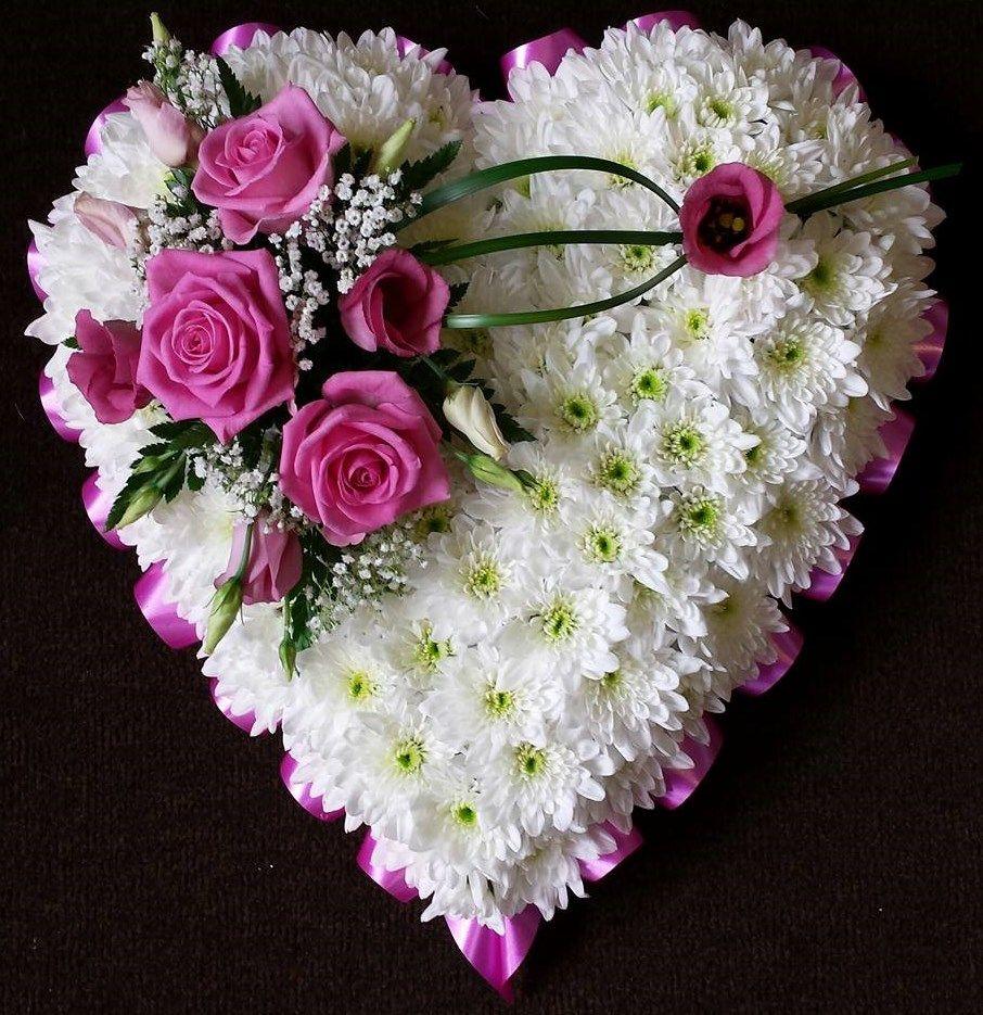 Solid Heart Tribute Oopsiedaisyflowers Bm Pinterest