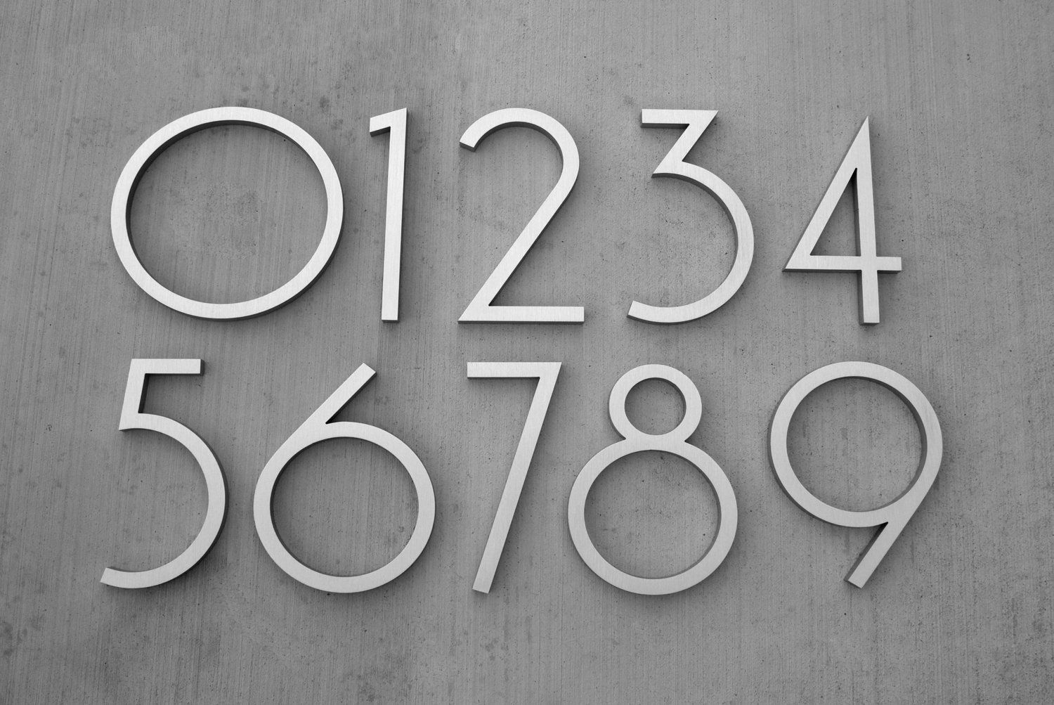Vintage Bronze Contemporary House Number Number 1