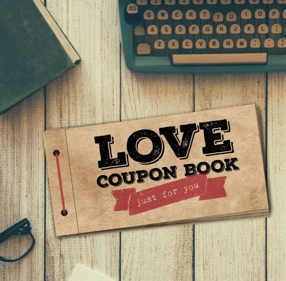 Love Coupon Book for Him PRINTABLE DIY Gift Digital PDF File - coupons design templates