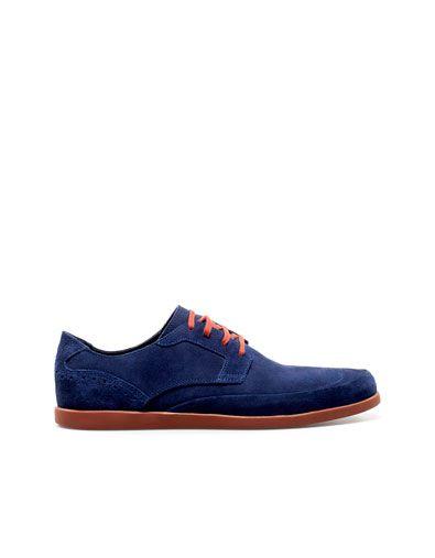 Modello Amadeo - 40 EU - Cuero Italiano Hecho A Mano Hombre Piel Azul Marino Zapatos Vestir Oxfords - Cuero Ante - Encaje dgpwpDkxSl