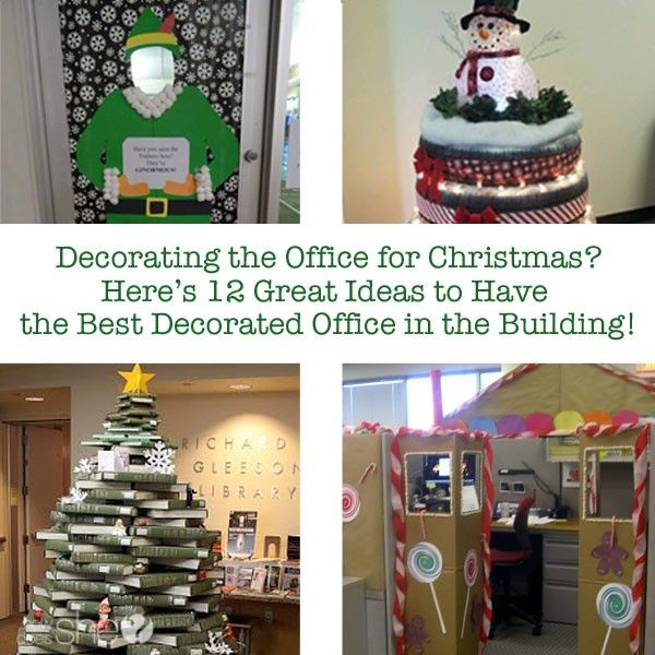 Great Ideas To Have The Best Decorated Office In Building Christmas Decoration ItemsParty