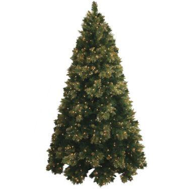 jcpenney 7 pre lit glitter tipped golden pine christmas tree