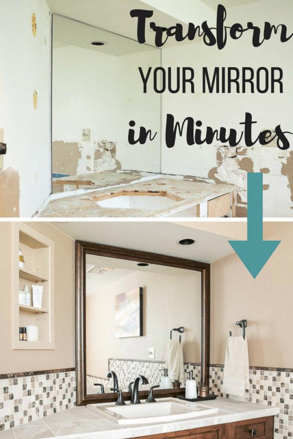 How To Frame A Basic Bathroom Mirror Custom Framed Mirror Home Decor Mirrors Home