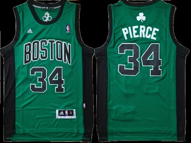 official photos 9c752 5ab79 Boston Celtics Jersey - Paul Pierce Green with Black ...
