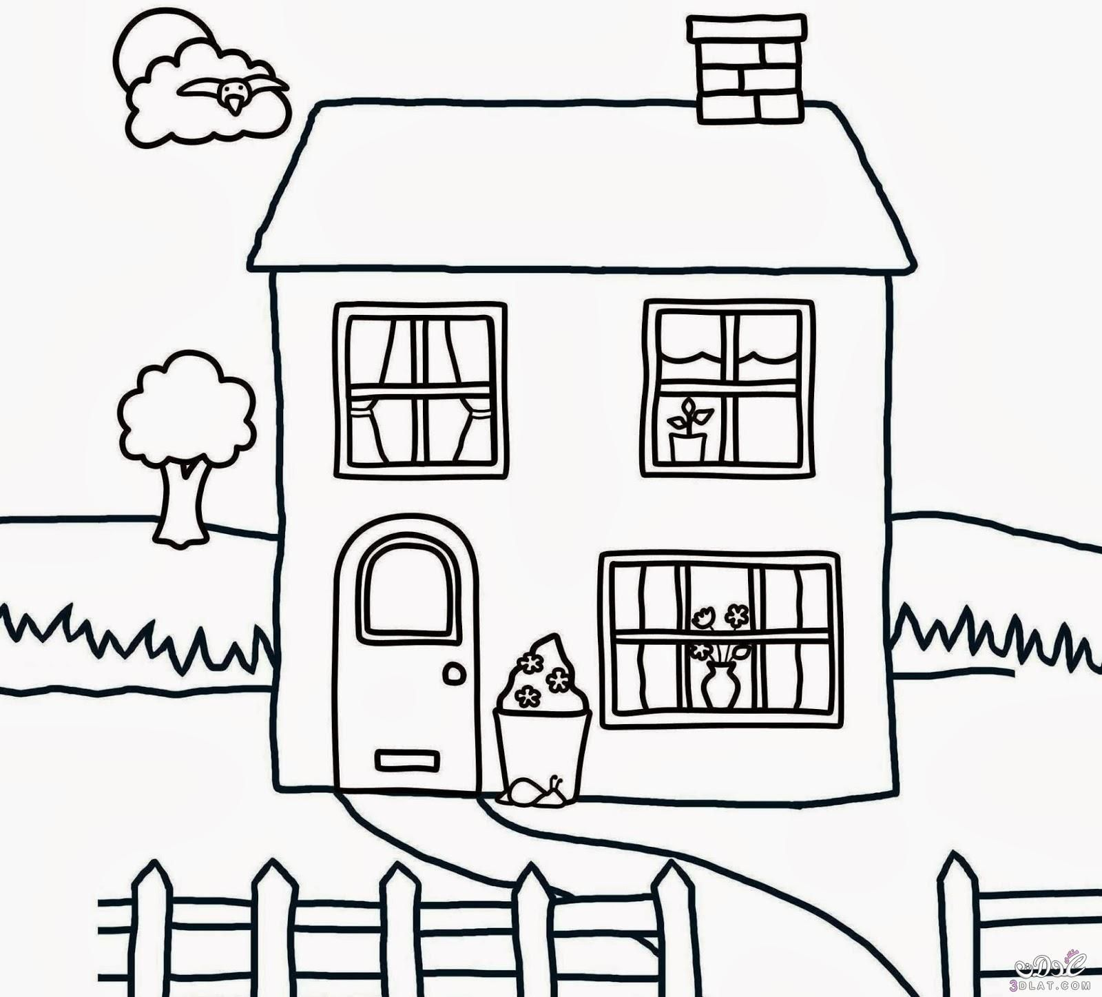 Pin by hafed lassed on Bricks wall House colouring pages