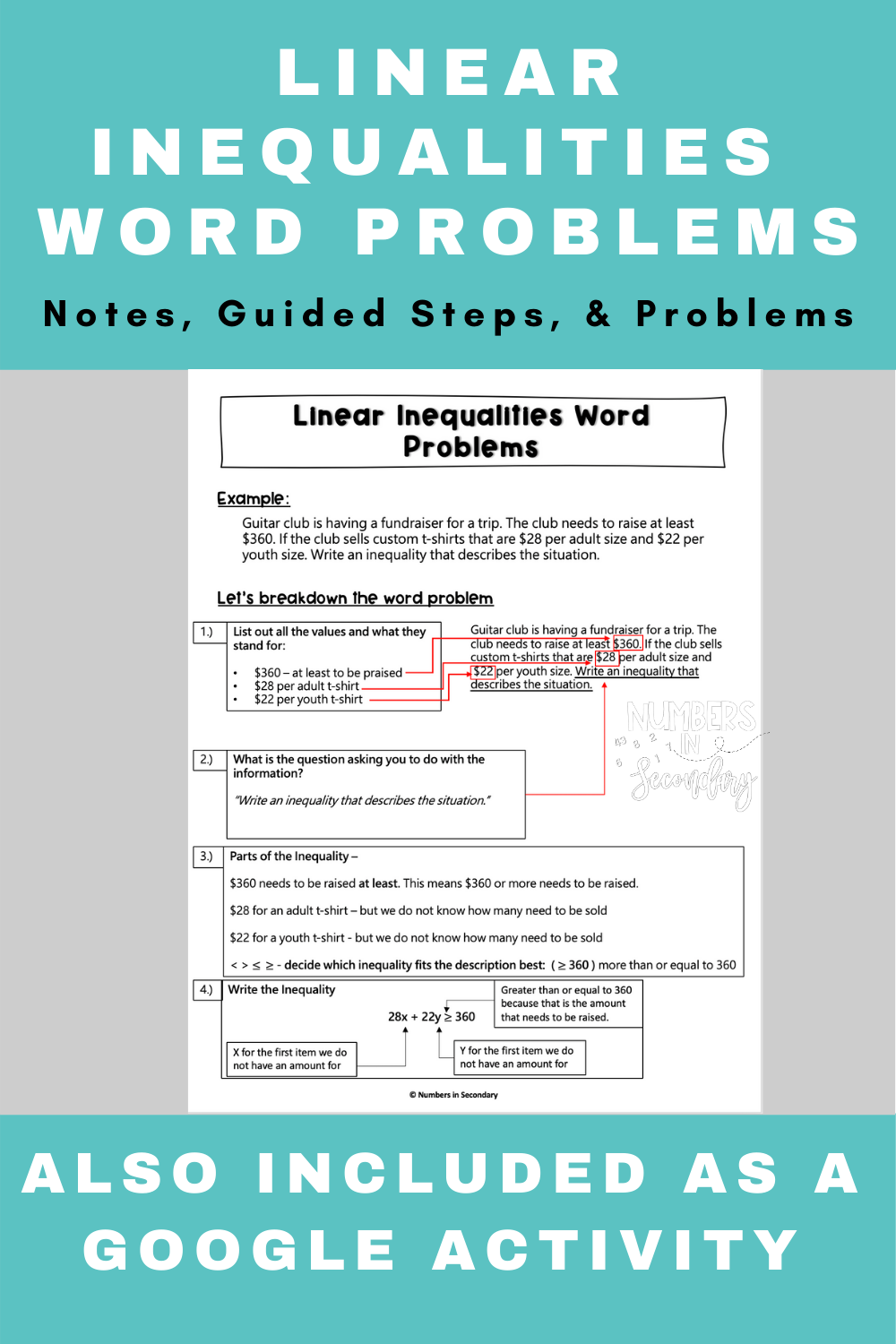 Linear Inequalities Word Problems Worksheet Word Problem Worksheets Word Problems Inequality Word Problems