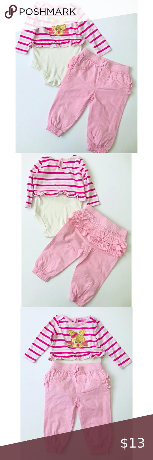 Pink White Striped Onesie W Pink Pants Pink White Pink Pants White Stripe